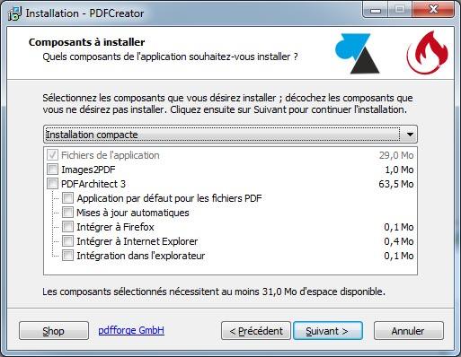 tutoriel pdfcreator telecharger installer logiciel gratuit PDF Creator