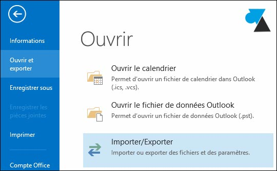 tutoriel Outlook sauvegarder donnees parametres PST