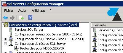 Gestionnaire de configuration SQL Server Configuration Manager