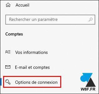 tutoriel windows 10 parametres compte option connexion