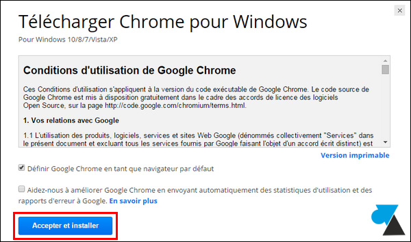 Chrome Google et Télécharger installer