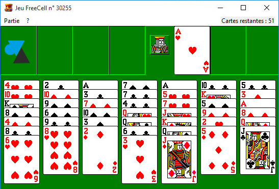 FreeCell jeu Windows
