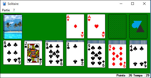 Solitaire jeu Windows