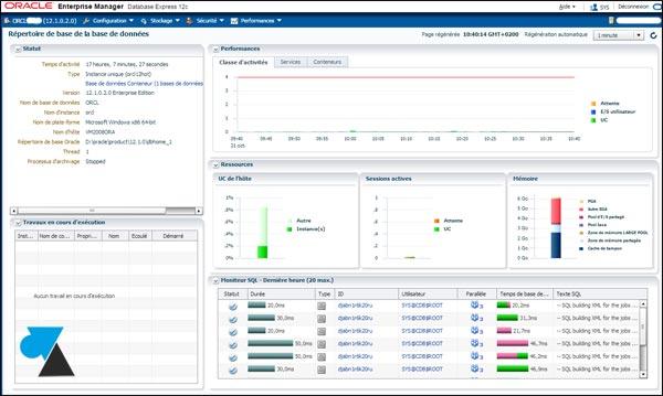 tutoriel serveur Oracle 12 12c EM