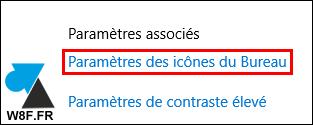 tutoriel parametres icones bureau