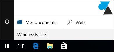 tutoriel Windows 10 supprimer masquer barre recherche