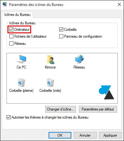Windows 10 afficher l 39 ic ne ordinateur ce pc sur le - Afficher ordinateur sur bureau windows 8 ...