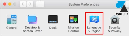 tutoriel Mac macOS preferences systeme Langue Region