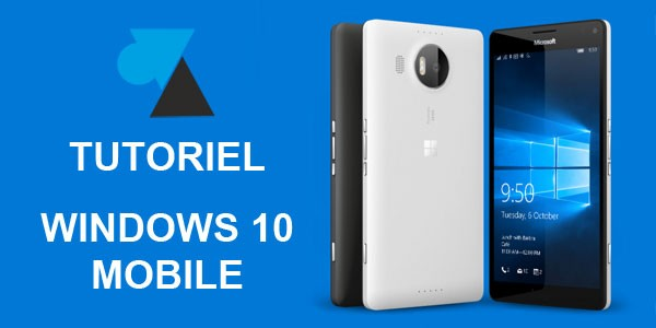Windows 10 Mobile : arrêter le smartphone