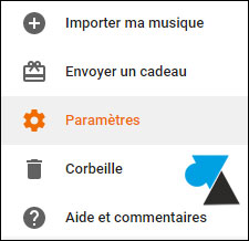 tutoriel Google Play Music Parametres