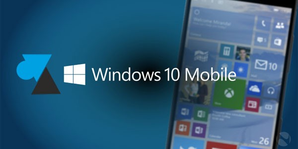 Windows 10 Mobile : version du système