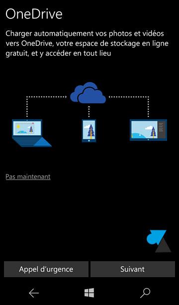 tutoriel configurer installer smartphone Windows 10 Mobile Nokia Microsoft Lumia OneDrive