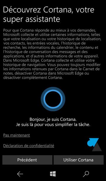 tutoriel configurer installer smartphone Windows 10 Mobile Nokia Microsoft Lumia Cortana