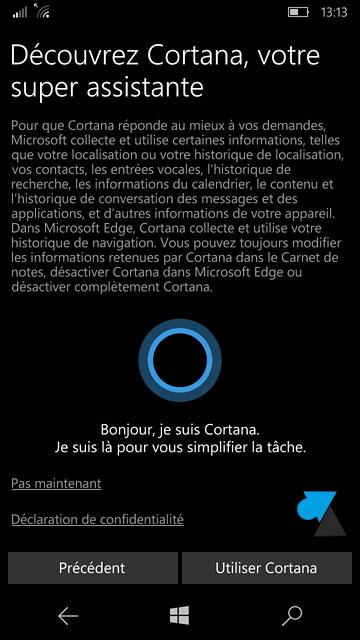 tutoriel configurer installer smartphone Windows 10 Mobile Nokia Microsoft Lumia