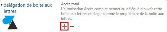 tutoriel Exchange 2013 droit controle total sur boite mail