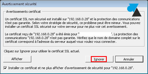 tutoriel VMware ESXi hypervisor certificat SSL console vSphere Client