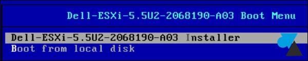 tutoriel installation serveur VMware ESXi hypervisor ISO Dell
