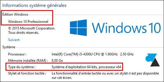 Windows 10 Version Du Systeme Windowsfacile Fr
