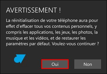 tutoriel Windows 10 Mobile reset smartphone reinitialiser systeme