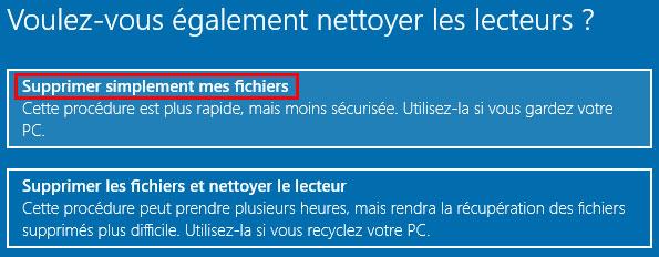 tutoriel réinitialiser Windows 10 reset réinstaller