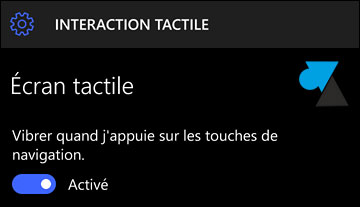 tutoriel tactile smartphone Windows 10 Mobile
