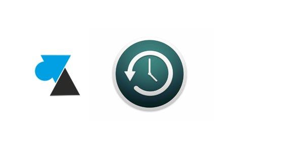 Mac : remettre l'icône Time Machine dans la barre de menu