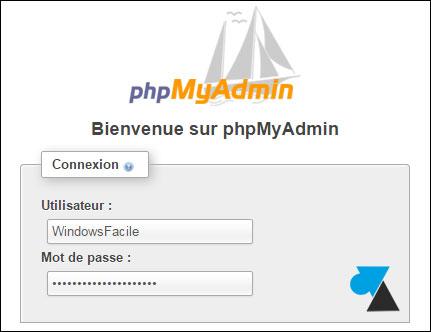 tutoriel acces web phpmyadmin mysql