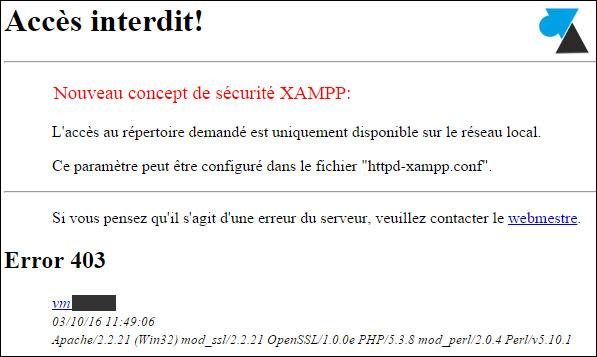 XAMPP Apache 403 Forbidden