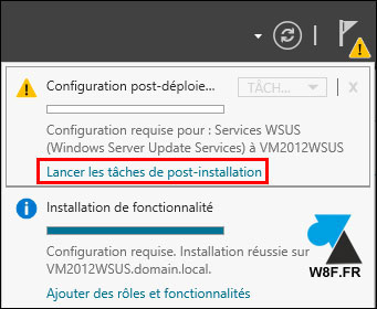 tutoriel installation WSUS Windows Server Update Services
