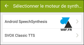 Endomondo moteur synthese vocal SVOX Google Android SpeechSynthesis