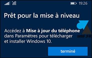 tutoriel upgrade mise à jour smartphone Lumia Windows Phone 8 vers Windows 10 Mobile