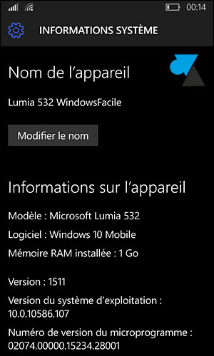 tutoriel upgrade mise à jour smartphone Lumia Windows Phone 8 vers Windows 10 Mobile