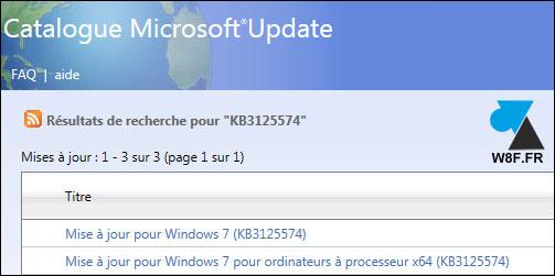 tutoriel telecharger Windows 7 Service Pack 2 W7 SP2 rollup KB3125574