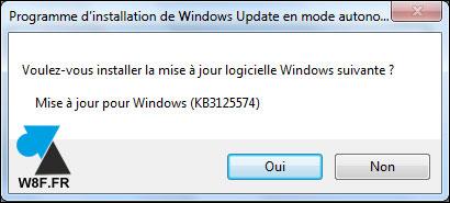 tutoriel installation Windows 7 Service Pack 2 W7 SP2 rollup KB3125574