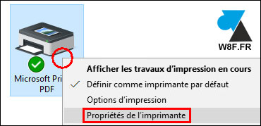 tutoriel Windows 10 configurer renommer imprimante PDF