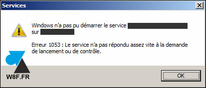 Windows Server service timeout erreur 1053