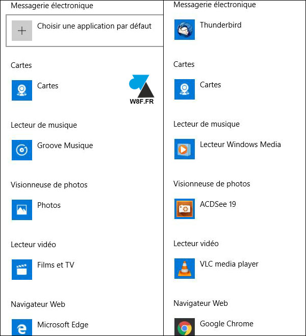 windows 10   modifier les applications par d u00e9faut