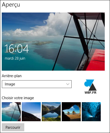 tutoriel Windows 10 changer photo écran verrouillage