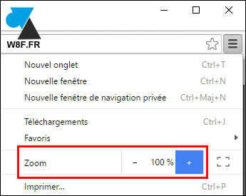 tutoriel Google Chrome zoom page site internet