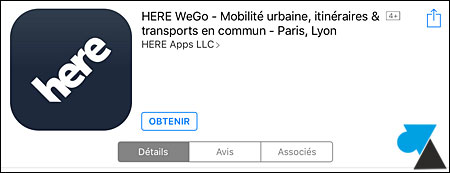 tutoriel application GPS gratuit iPhone iPad Nokia Here WeGo Maps