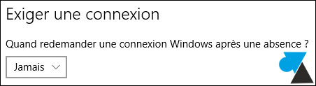 tutoriel supprimer mot de passe sortie veille Windows 10