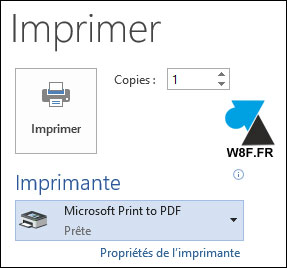 tutoriel imprimer fichier PDF print to pdf Windows 10