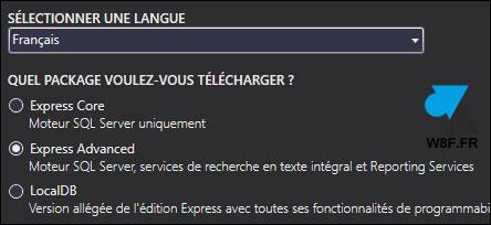 telecharger logiciel serveur SQL Server 2016 Express Standard gratuit