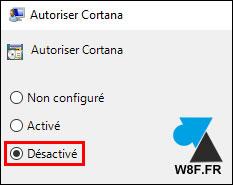 tutoriel Windows 10 desactiver Cortana assistant vocal GPO gpedit msc