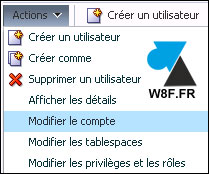 tutoriel Oracle 12c modifier compte utilisateur console Enterprise Manager