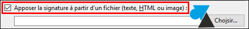 tutoriel Mozilla Thunderbird signature HTML