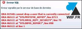 oracle drop user