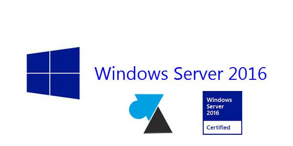 WF tutoriel Windows Server 2016 logo WS2016