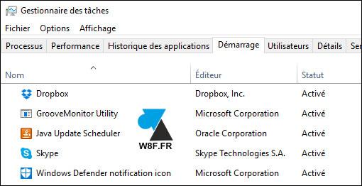 tutoriel Windows 10 Gestionnaire des taches demarrage startup