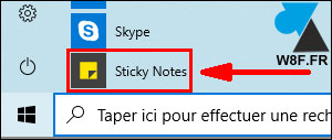 tutoriel Windows 10 pense bete sticky notes post it